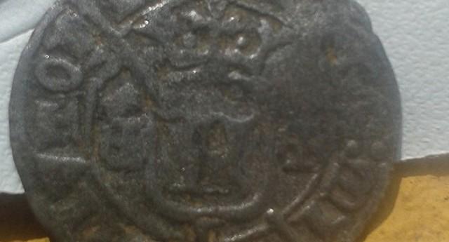 Moeda medieval encontrada no centro histórico…